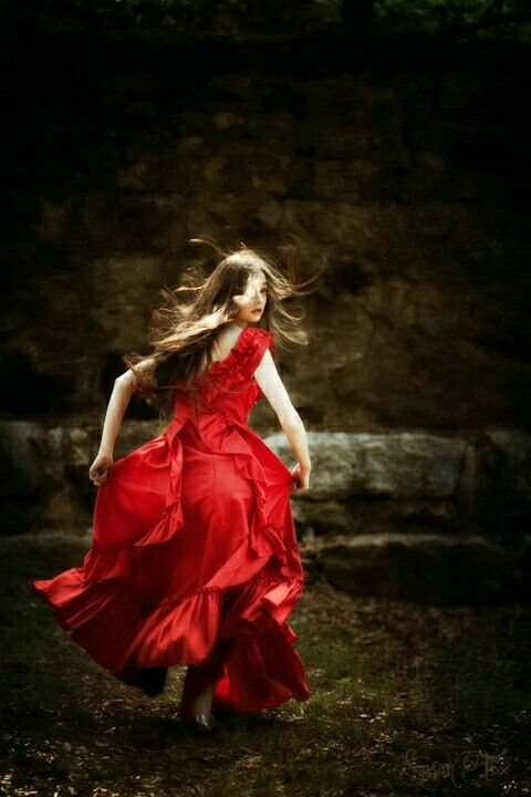 girl in red dress | Senior Couture Fairytale and Fantasy ...
