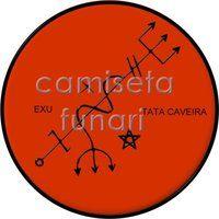 ponto riscado exu TATA CAVEIRA by camiseta-funari