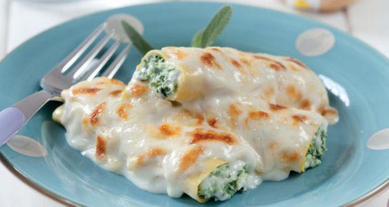 Cannelloni dietetici con ricotta e spinaci - Ricette Semplici