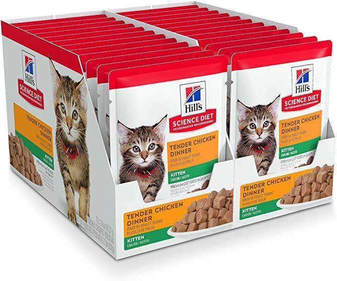 Amazon Com Hill S Science Diet Kitten Wet Cat Food Pouch Chicken Recipe 2 8 Oz 24 Pk White Pet Supplies In 2020 Hills Science Diet Science Diet Wet Cat