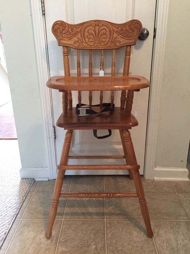 Vintage Wooden High Chair, Jenny Lind, Antique High Chair, Vintage High Chair, Custom Painted High Chair, 1st birthday, Smashcake, Bentwood by TheKristKorner on Etsy