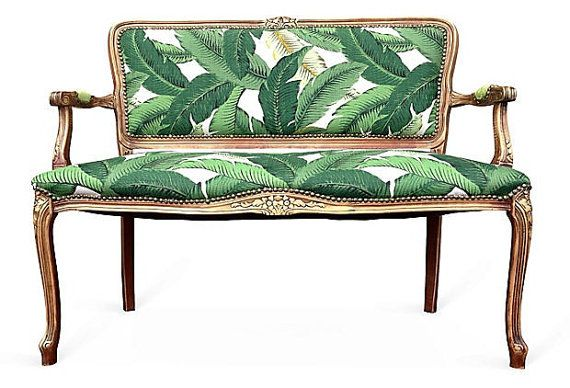 French Settee Loveseat Love Seat Dining Chairs Upholstered