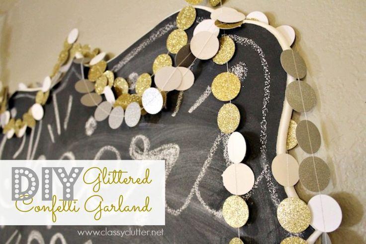 DIY Glittered Confetti Garland