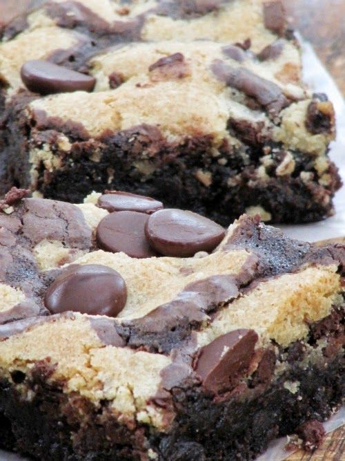 Once Upon A Chocolate Life: Chocolate Chip Cookie Brownies