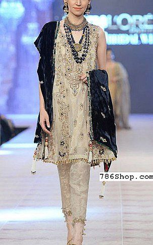 7563c5d3c7 Light Golden Chiffon Suit | Buy Pakistani Fashion Dresses and Clothing  Online in USA, UK