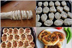 poğaça lahmacun - Turkish - (Minced Mortar - on - Pizza Bun)
