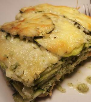 Courgette-broccoli-zalm lasagne