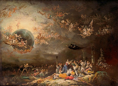Visión alegórico-satírica del Juicio Final.Eugenio Lucas Velázquez. Jorge A. Rizo