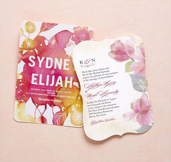 Watercolor - Wedding Stationery Trends 2014 via EmmalineBride.com