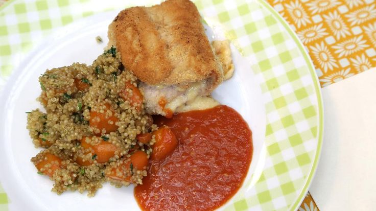 Cordon bleu met quinoa, wortel en homemade ketchup    VTM Koken