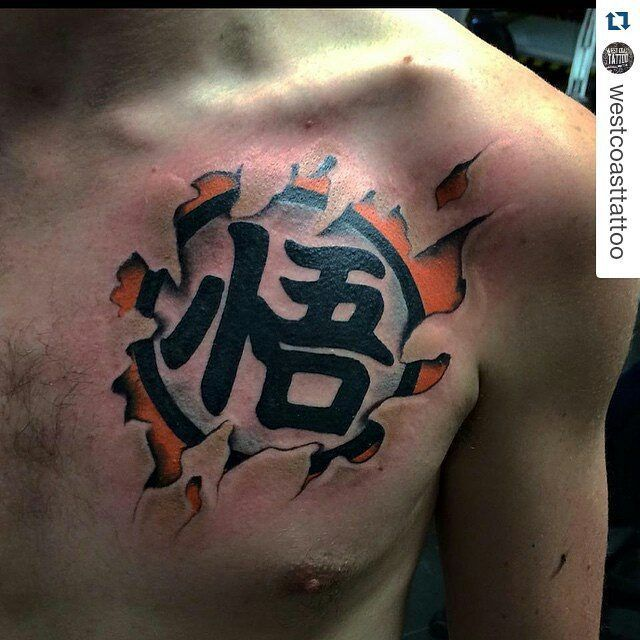 Hijo de su... #Repost @westcoasttattoo ・・・ Goku kanji by @karloslloydtattoo… - Visit now for 3D Dragon Ball Z shirts now on sale!