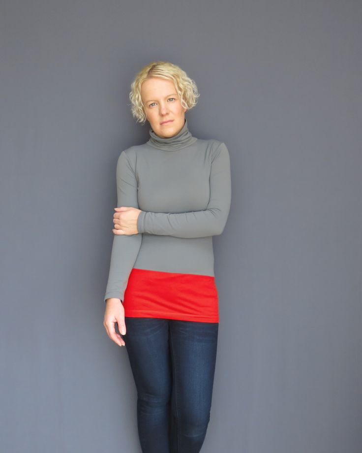 Red grey turtleneck womens tunic extra long top grey shirt by AncyShop on Etsy https://www.etsy.com/listing/165643046/red-grey-turtleneck-womens-tunic-extra