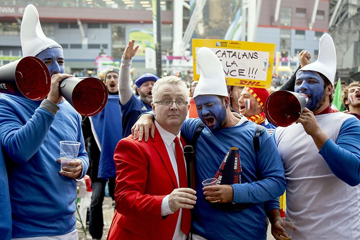 French smurfs - IRE v FRA - Millennium Stadium, Rugby World Cup 11th Oct, 2015. NetBet #MakeSomeNoise campaign. For more info visit www.dicelondon.com