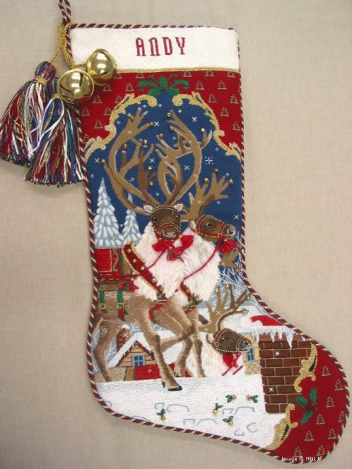 needlepoint stocking for Andy
