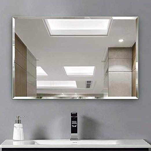 Amazon Com Hans Alice Beveled Bathroom Mirrors Wall Mounted Modern Frameless Mirror For Bathroom Be Mirror Wall Bathroom Beveled Mirror Bathroom Mirror Wall Frameless beveled bathroom mirror