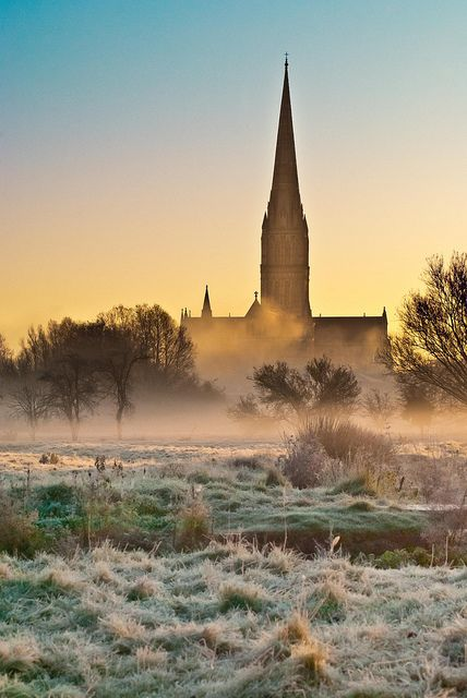 Cold Morning by Paul Chambers Salisbury Cathedral, Salisbury, Wiltshire, England