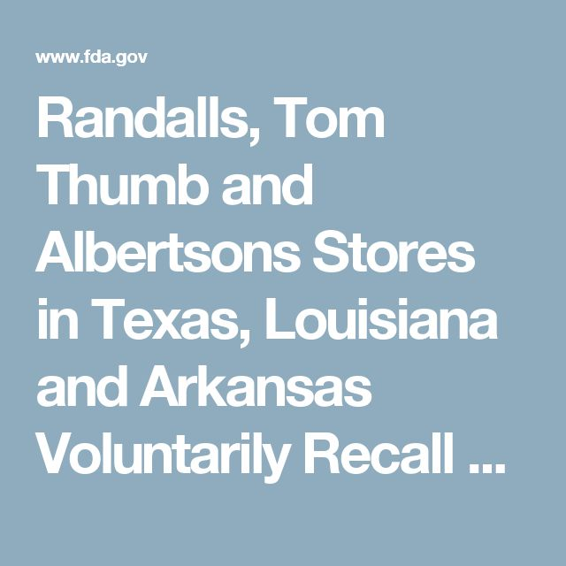 Randalls, Tom Thumb and Albertsons Stores in Texas, Louisiana and Arkansas Voluntarily Recall Ready. Chef. Go! Seafood Meal Bags in Cooperation with Voluntary Recall by Mann Packing Due to Possible Listeria Monocytogenes Contamination
