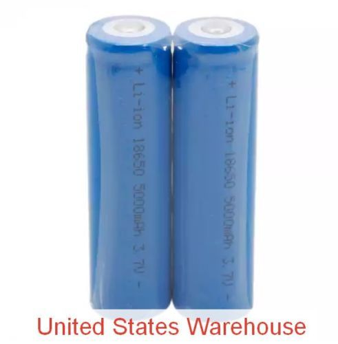2-Pcs-Neutral-18650-3-7V-4-2V-5000mAh-Rechargeable-Lithium-Battery-Deep-Blue