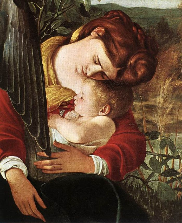 Rest on Flight to Egypt (detail) : CARAVAGGIO : Art Images : Imagiva