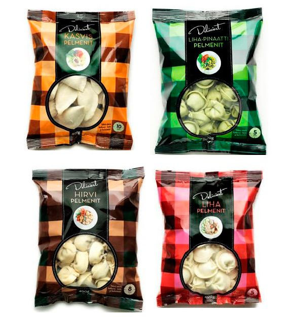 Дизайн упаковки пельменей. Plaid unusual #packaging for food but I like it PD