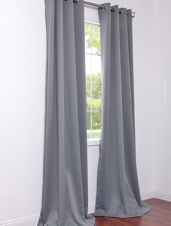 Grommet Neutral Grey Blackout Curtains U0026 Drapes | Half Price Drapes $30 Per  Panel