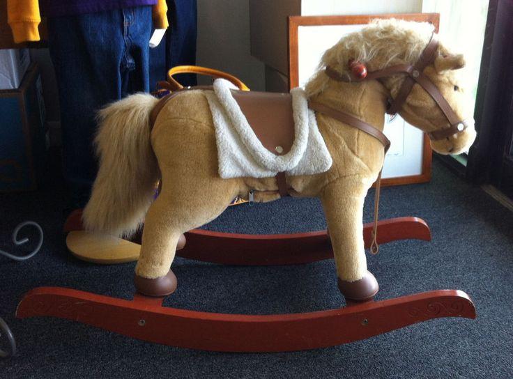 Chrisha playful plush rocking horse | Horses, Rocking ...