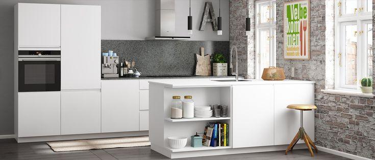 Kies de eenvoudige Linea keuken en voeg je eigen stijl toe met de open kasten. Bij Kvik heeft iedereen recht op een coole, persoonlijke keuken.