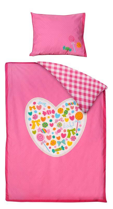 Dekbedset Sofie van lief!: kleurrijk beddengoed voor de kinderkamer #beddengoed
