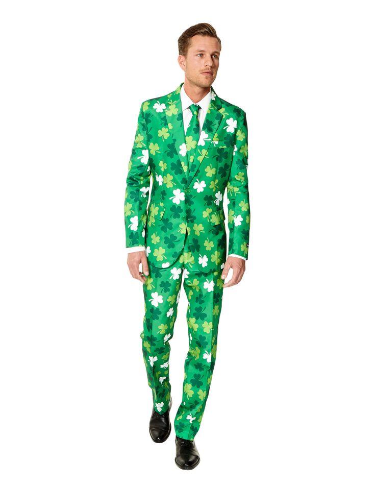 Costume Mr. Trèfles homme Suitmeister™ St Patrick : Ce costume Saint Patrick pour homme est un Suitmeister™. Il est composé d'une veste, d'un pantalon et d'une cravate (chemise et chaussures non incluses). Cet ensemble 3...