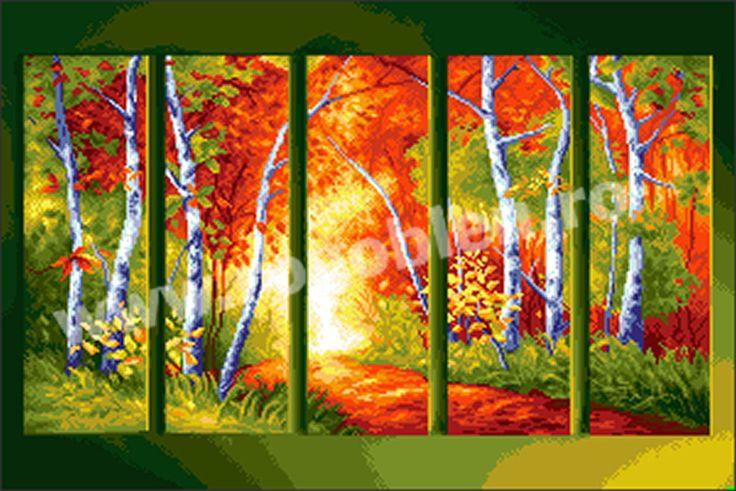 Cod produs 8.60 Cvintet de toamna Culori: 23 Dimensiune: 20 x 30cm Pret: 75.14 lei