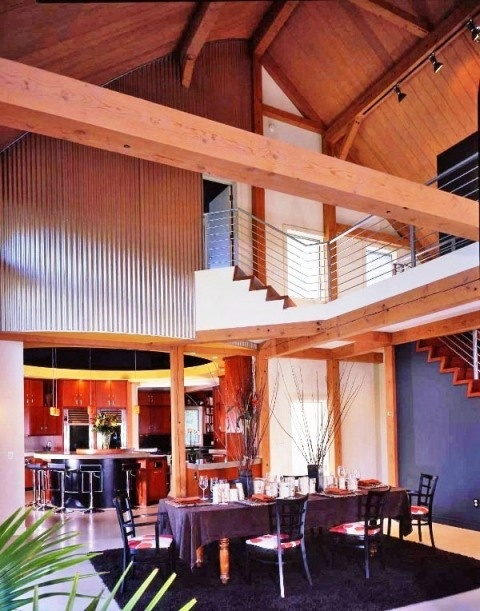 Yankee Barn Homes Contemporary Post Beam Kitchen