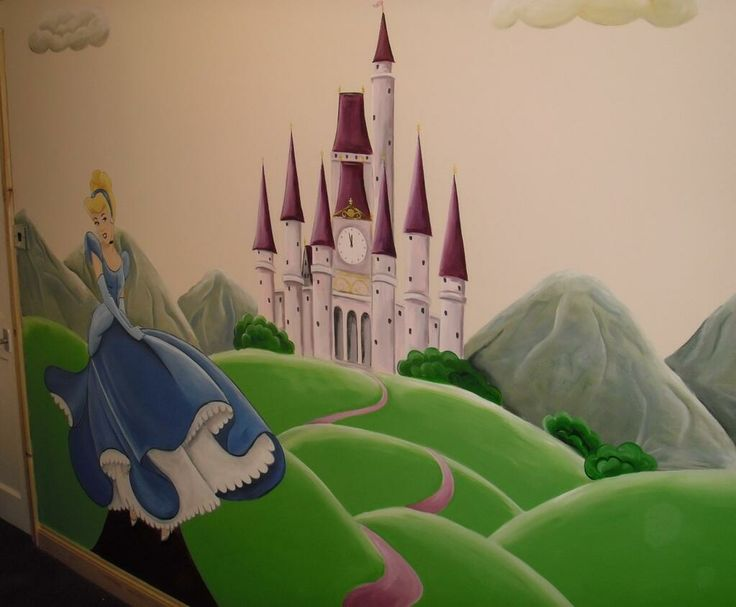 17 best images about murals on pinterest disney mural for Cinderella wall mural