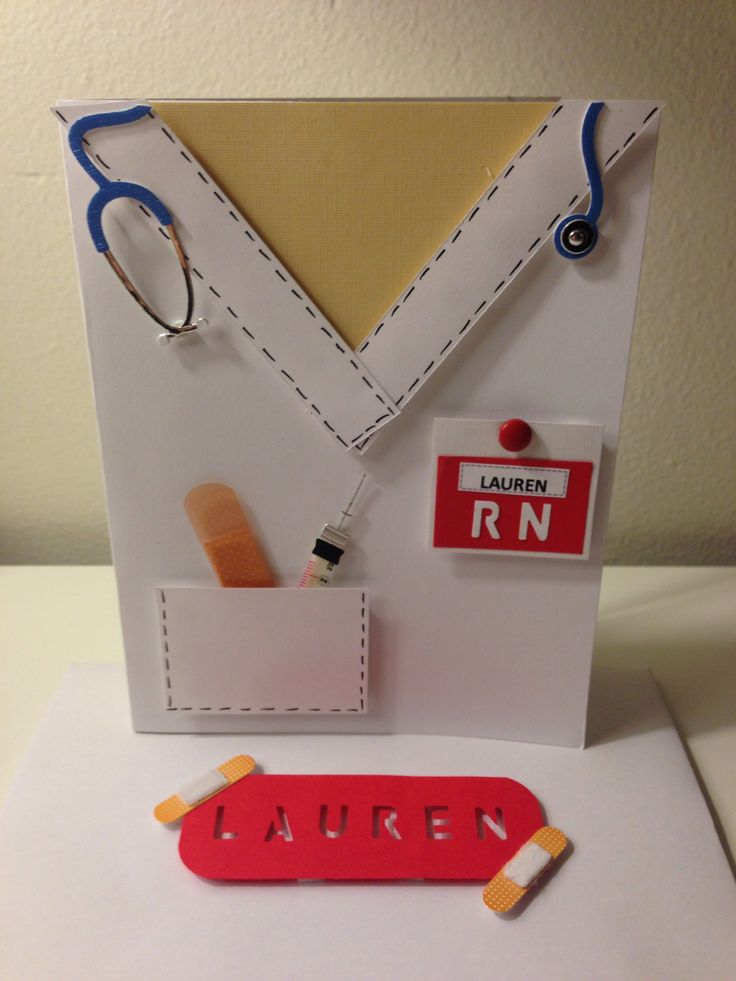 nurse card w   envelope   graduation  thank you or just