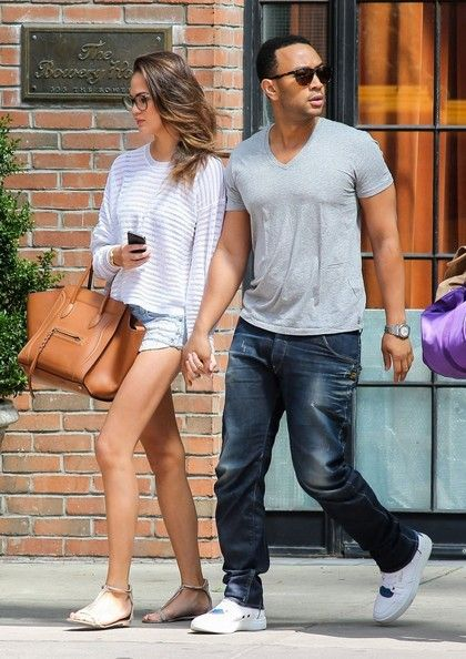 Chrissy Teigen - John Legend & Christine Teigen Leaving The Bowery Hotel