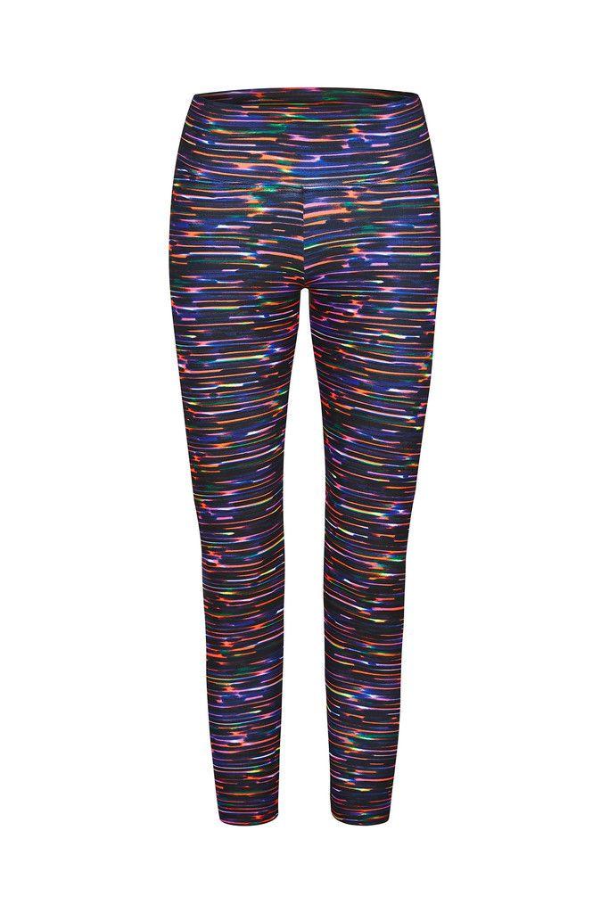 Laser Stripe Printed Yoga Legging - 3/4 – Dharma Bums Yoga and Activewear