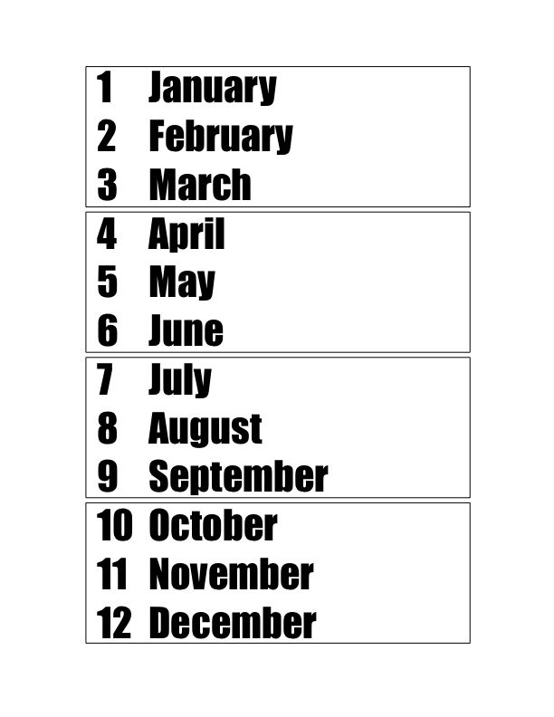 learn the months of the year their numbers seasons leap year free worksheet set. Black Bedroom Furniture Sets. Home Design Ideas