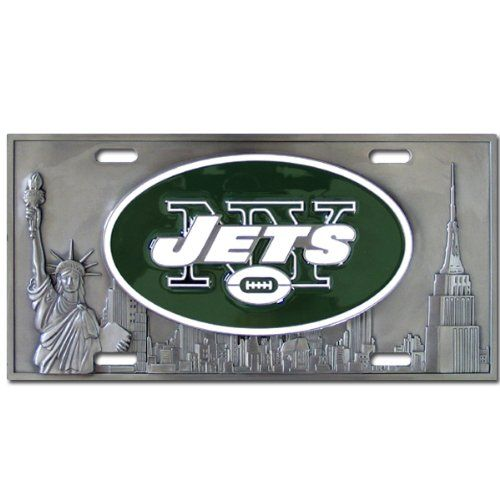 New York Jets NFL Collector's Plate  http://allstarsportsfan.com/product/new-york-jets-nfl-collectors-plate/  Officially licensed NFL merchandise Durable zinc Great for your car or to display in your home