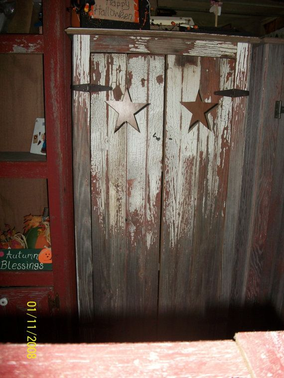 Primitive barn wood cabinet by LilBitCountry7720 on Etsy