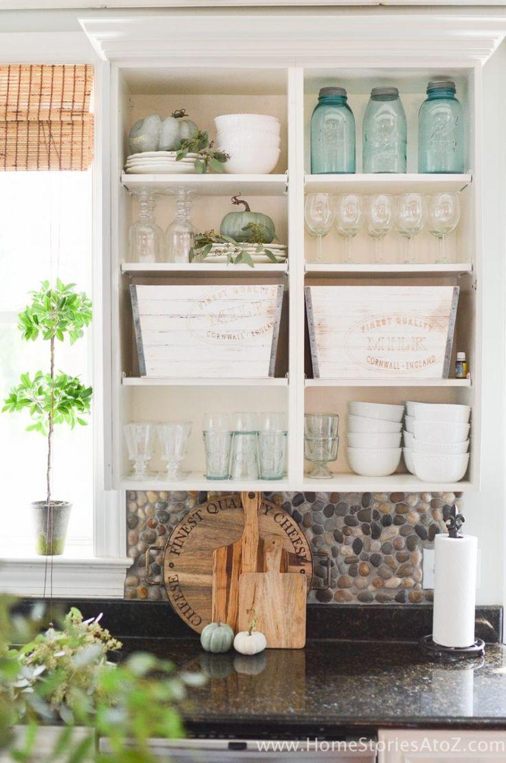 White Kitchen Cabinet Open