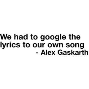 ALEX GASKARTH I LOVE YOU X X X X