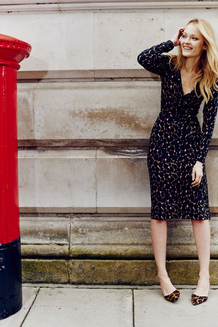It's a wrap! (Er, dress.) Shop with 15% off for 24 hours with code LDN1 (UK) or LDN2 (US) #Boden #AW14