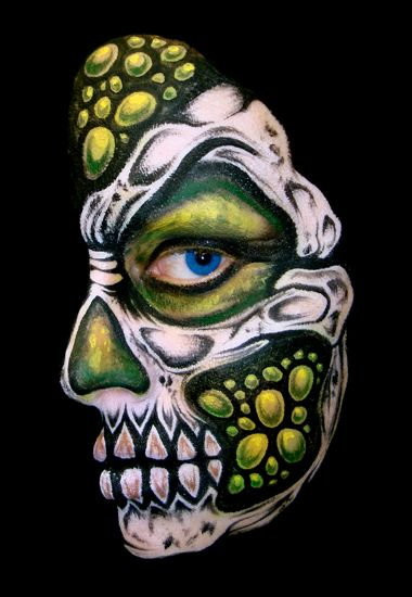 Skull Disease  (Face Painting) by Catherine Pannulla