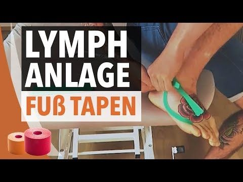 Lymph Taping nach Supinationstrauma - Kinesiology-Tape Anleitung - Fuß Tapen - YouTube
