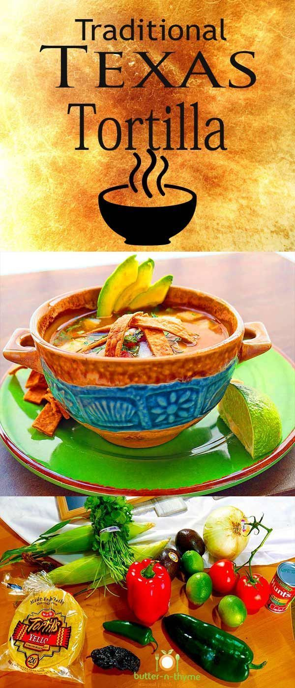 Texas Chicken Tortilla Soup is a classic southwestern favorite made with the freshest of ingredients with a base of homemade Chicken Stock. The homemade Chicken Stock is the key to the deep flavor that is indescribable deliciousness. https://www.butter-n-thyme.com #tortillasoup #texas #soup #chickentortillasoup