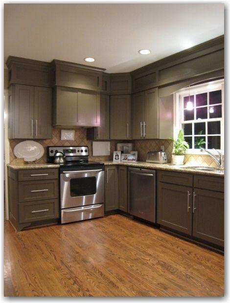 Diy Kitchen Cabinet Refacing Island Amazon Shoji White Sherwin Williams With Porpoise Cabinets ...