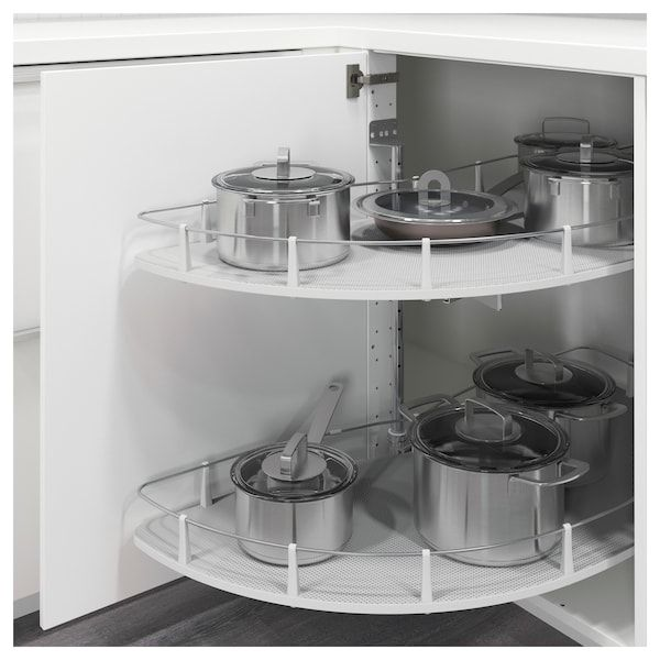UTRUSTA Inrichting onderhoekkast, uittrekb - IKEA   Placard angle cuisine, Meuble angle cuisine ...