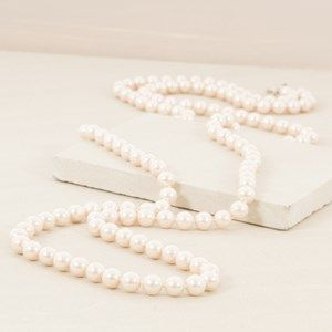 10mm Knotted Faux Pearl 150cm Necklace