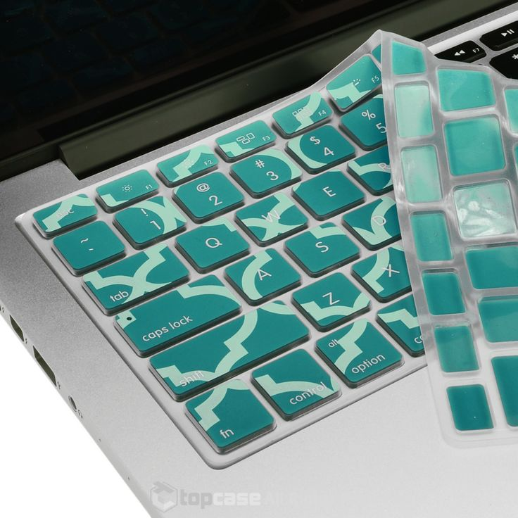"""TopCase Quatrefoil Moroccan Trellis Hot Blue Keyboard Cover for Macbook Pro 13"""" 15"""" 17"""" with or without Retina Display /Air 13"""" / Wireless Keyboard"""