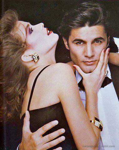 Gia Carangi, Christian Dior jewelry, 1979.