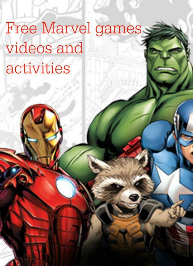 Free Marvel games vvideos abd activities form Disney